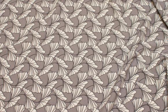 Lightweight light grey dress crepe with lightweight stretch