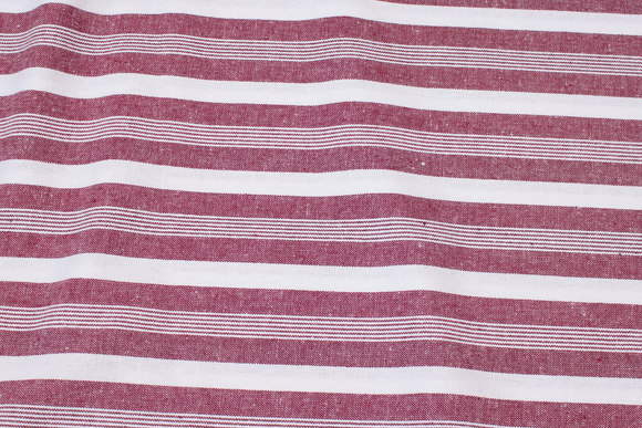 Striped cotton in bordeaux and white