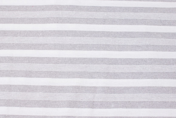 Striped cotton in light grey and white