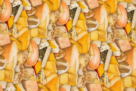 Patchwork cotton with cheese