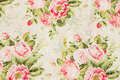 Off white patchwork cotton with rose bouquets
