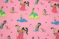Pink cotton with Disney-princesses