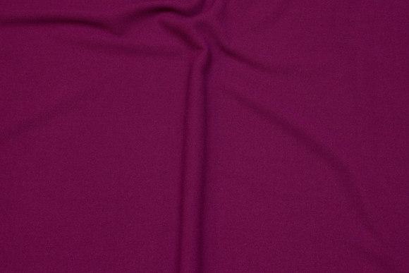 Dress stretch-crepe in fuchsia-colored