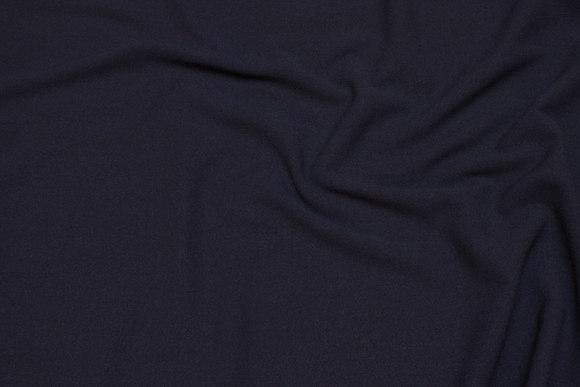 Dress stretch-crepe in dark navy