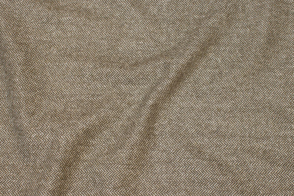 Olive-green wool and polyester sildebensflannel
