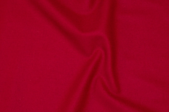 100% medium-thickness wool flannel in winter-red