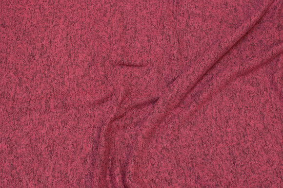 Lightweight, soft melange-knit in light cerise