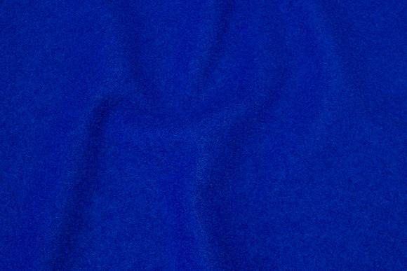 100% wool bouclé in cobolt-blue