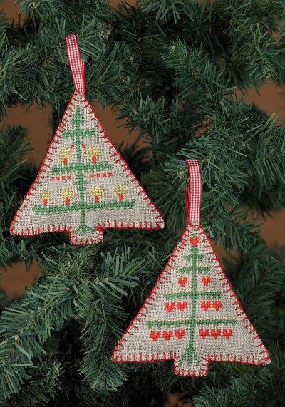 Embroidery christmas trees ornaments