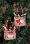Permin 3247-21. Broderede christmas bags as ornaments.