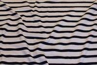 Across-striped cotton-jersey in white and navy