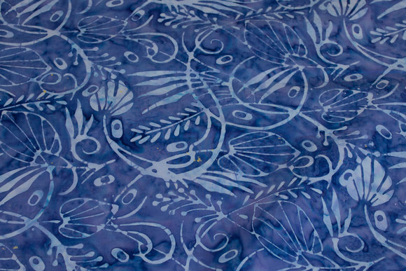 Batique-cotton in blue and light blue