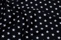 Black cotton-poplin with white 2 x 2 cm stars.