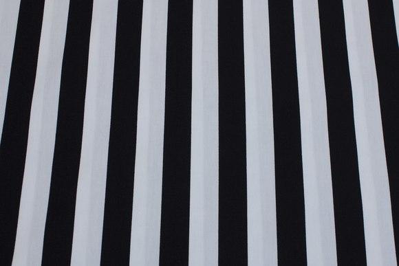 Black and white striped cotton,23 mm stripes