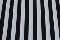Black and white striped cotton,23 mm stripes