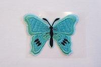 Butterfly patch mint 5 x 7 cm