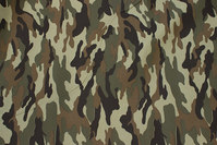 Camouflage-fabric for pants, jackets etc. in polyester and cotton