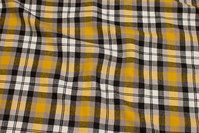 Checked winter-cotton in yellow, black and grey