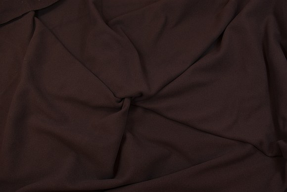 Coat velvet in dark brown