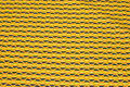 Cotton in brass-yellow and navy retro-pattern.