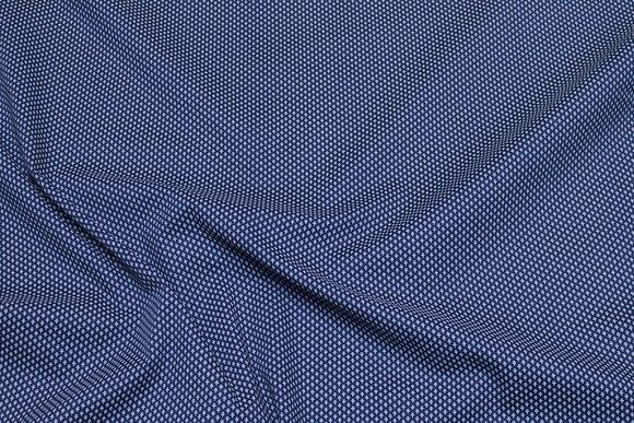 Dark navy stretch-poplin with white mini-pattern