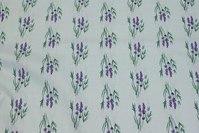 Delicate light blue cotton with lavendar