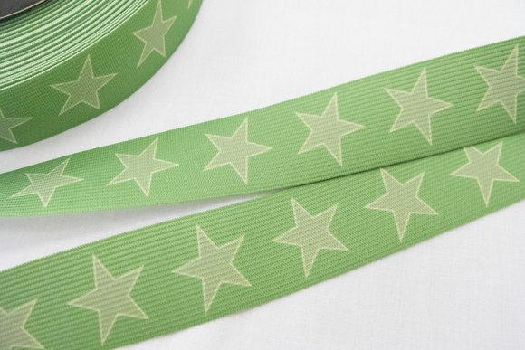 Elastic band, stars in lime color