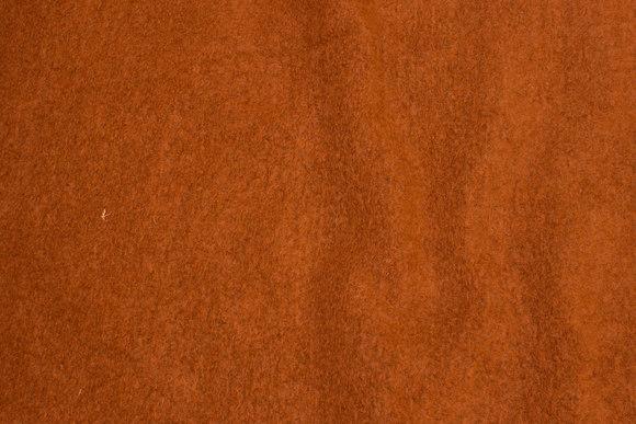 Felt wool in rust-colored