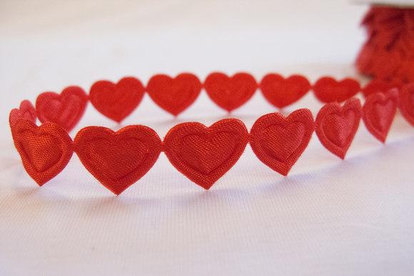 Heart ribbon 1,3cm hearts
