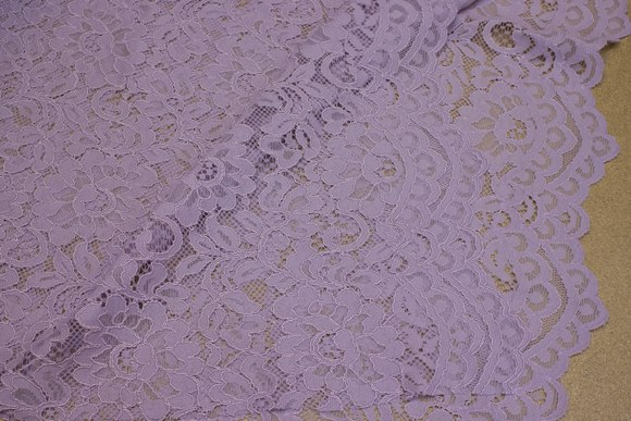 Light dusty-purple dress-lace-fabric with scallops in both sides