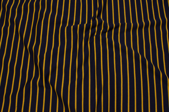 Lightweight jogging, across-stripes in navy and brass