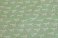 Organic cotton, light green, with foxes