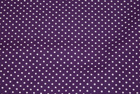 Purple cotton with dots
