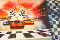 Race car panel (front- and  back-piece) cotton-jersey for t-shirts