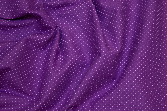 Red-purple cotton with mini-dot