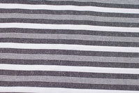 Striped cotton in black and white