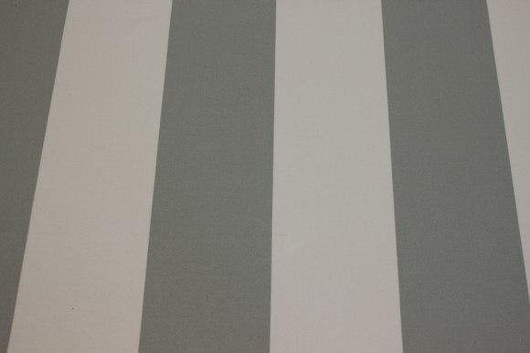 Texgard-coated awning fabric, grey and white