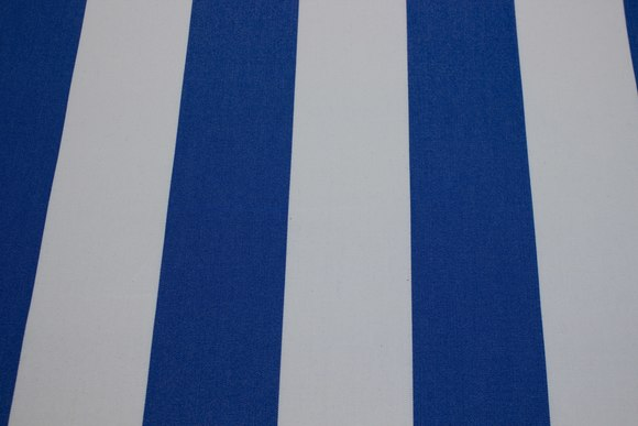 Texgard-coated awning fabric, royal blue and white