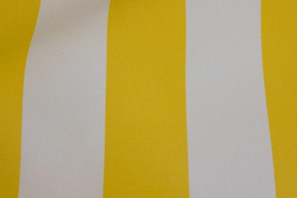 Texgard-coated awning fabric, yellow and white