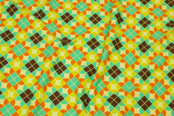 Retro cotton-jersey with green clover-motif