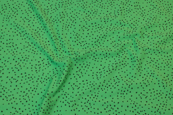 Green cotton-jersey with small black corn