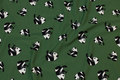 Forest-green cotton-jersey with pandas.