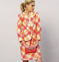 Vogue 8887. Jacket, Top, Sash, Skirt and Pants.