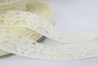 Off white elastic lace 3cm
