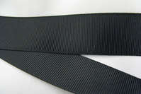 Grossgrain ribbon black 38mm
