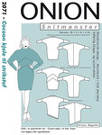 Onion 2071. Cocoon dress for knits.