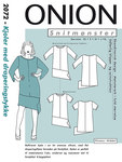 Onion 2072. Dresses with drape piece.