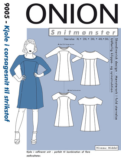 Dress in corsage design