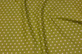 Kiwi-green cotton with white 1 cm stars