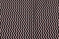 Black cotton with white zig zag stripes